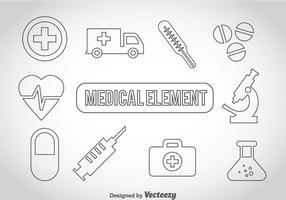 Ícones de tópicos médicos vetor