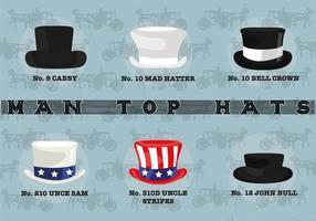 Vetor livre de chapéu de homem livre