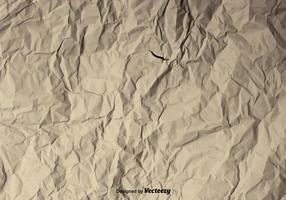 Fundo vetorial de uma textura de papel amassada vetor