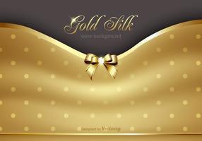 Vetor de fundo de seda de ouro grátis