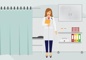 Vetor médico bonito no trabalho