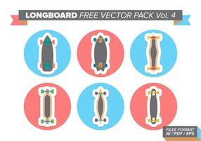 Pacote livre de vetores longboard vol. 4