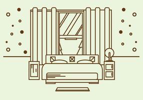Vector de ilustração de colchão grátis