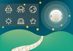 Free Stone Path e Galaxy Vector