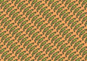 Folha de palmeira livre com fundo vetorial isolado vetor