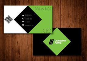 Cartão de visita criativo de diamante verde vetor
