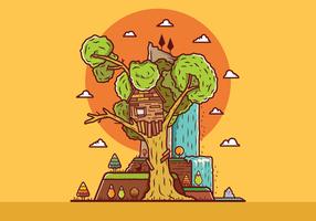 Vetor gratuito da casa da árvore