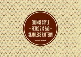 Padrão Zig Zag em estilo grunge vetor