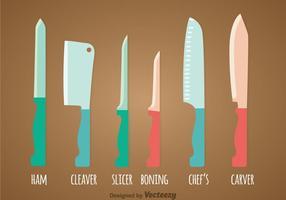 Vetor de conjuntos de facas