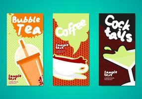 Molde de panfletos para bebidas de chá de bolha