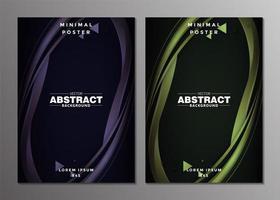 design de capas mínimas de onda abstrata de luxo