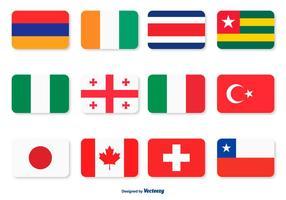 Conjunto de ícones de bandeira variada vetor