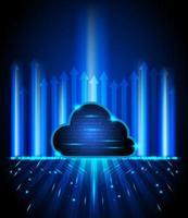 fundo de tecnologia de computação em nuvem conceito vetor