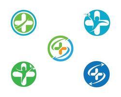 conjunto de ícones redondo médica