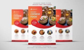 panfleto de comida chinesa