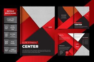 modelo multiuso criativo de páginas vermelhas