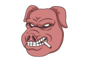 fumaça de porco isolada vetor