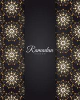 mandala dourada ramadan vetor