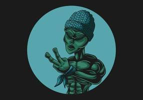 fundo alienígena paz preto vetor