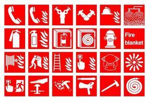 símbolo emergência sinal de alarme de incêndio vetor