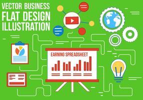 Ícones de design plano de negócios de vetores grátis