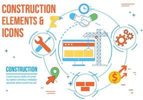 Ícones de vetor de construção livre