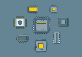 Ícone de microchip grátis vetor