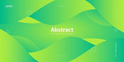 fundo ondulado abstrato moderno nas cores verdes vetor