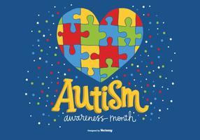 Vetor nacional do mês da consciência do autismo