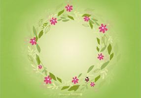 Fundo floral de grinalda vetor