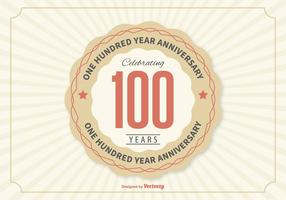 Ilustração do aniversário de 100 anos vetor