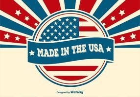 Feito na ilustração dos EUA vetor