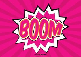 Ilustração de fundo do boom comic style