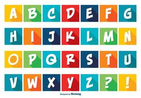 Conjunto colorido do alfabeto do estilo cómico vetor