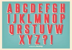 Conjunto de alfabeto de estilo retro vetor