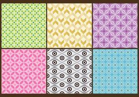 Batik Background Vetores coloridos