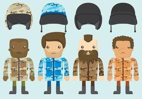 Vetores de desenhos animados do líder do esquadrão