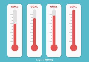 Ilustração do Termômetro Goal vetor