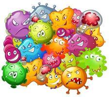 germes com caras de monstro vetor