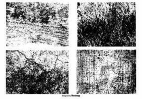 Conjunto de sobreposição de textura vetorial