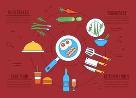 Ícones de alimentos vetoriais gratuitos vetor