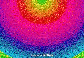 Vetor pixelado fundo do arco-íris