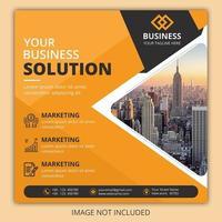 banner de postagem de agência de negócios laranja vetor