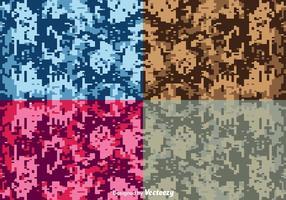 Fundos de camuflagem digital vetorial vetor