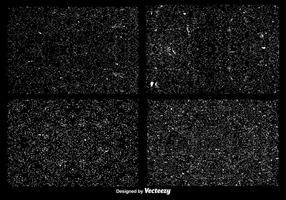 Conjunto de texturas de Grunge Grunge Overlay vetor