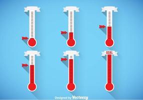 Conjuntos de vetores de termômetro