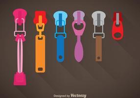 Vetor Colorido Zipper Pull