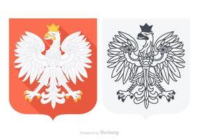 Águia polonesa do vetor livre