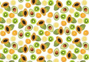 Vetor de fundo de frutas tropicais