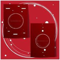 círculos brancos no conjunto de fundo vermelho vetor